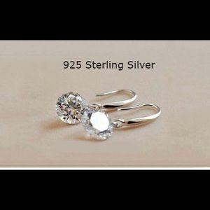 Jewelry - 🔥Drop Earrings  Sterling Silver Crystal